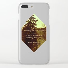 Walt Whitman Clear iPhone Case