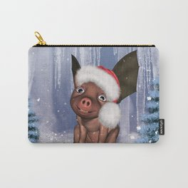 Christmas, cute little piglet Carry-All Pouch