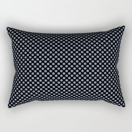 Black and Country Blue Polka Dots Rectangular Pillow