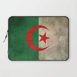 Old and Worn Distressed Vintage Flag of Algeria Laptop Sleeve