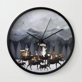 little nature walk Wall Clock