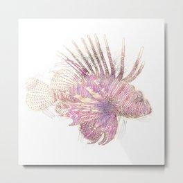 Lets draw a Lionfish Metal Print