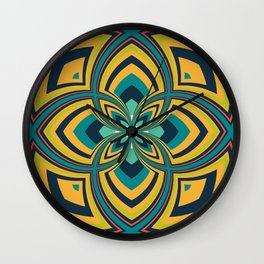 Spiral Rose Pattern B 4/4 Wall Clock