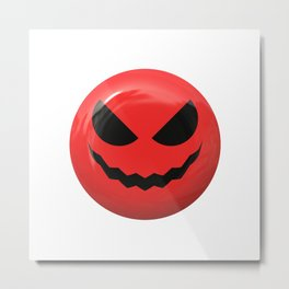 Red face design Metal Print