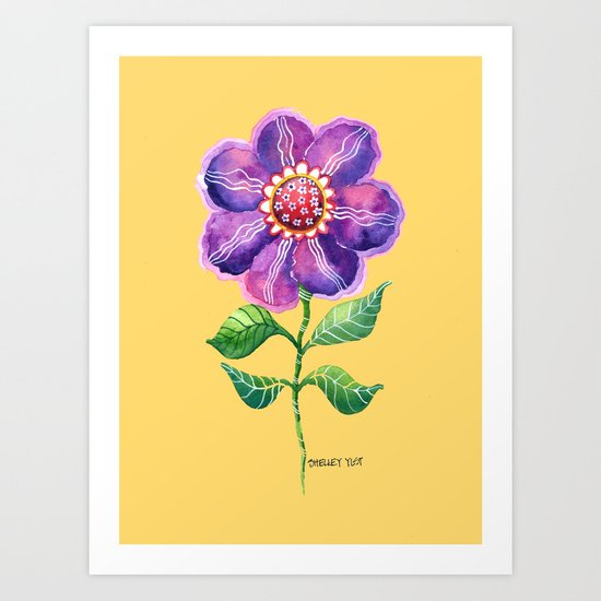 A Study in Violet Art Print