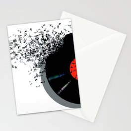 LP music notes Stationery Cards
