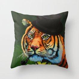 The Tiger Baron Throw Pillow