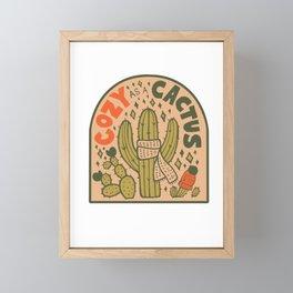 Cozy as a Cactus Framed Mini Art Print