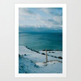 Winter at Voderup Klint Art Print