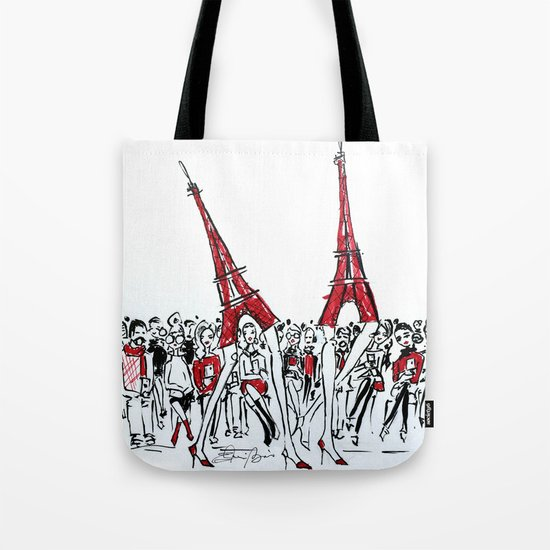 A Paris Runway Fashion Illustration Tote Bag