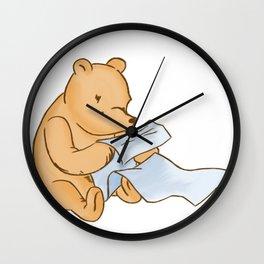 Pooh Reading Wall Clock