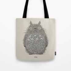 Cream Totoro Tote Bag