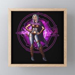 Female Space Pirate | Sci-Fi Character Design Framed Mini Art Print