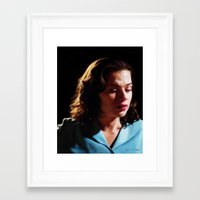 agent carter Framed Art Prints featuring Agent Peggy Carter by Stephanie Wu