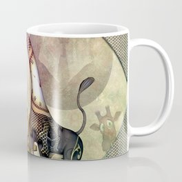 Funny giraffe, steampunk with clocks and gears Coffee Mug