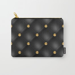 Luxury Tufted Gold Diamond 2 Carry-All Pouch