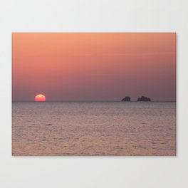 Two Rocks and a Sunset Canvas Print
