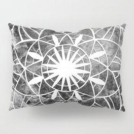 Star Mandala on Enigmatic Black Marble #1 #decor #art #society6 Pillow Sham