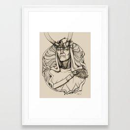 Bowie-Loki Framed Art Print