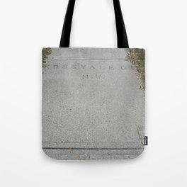 Rosevale Dr NW sidewalk stamp Tote Bag