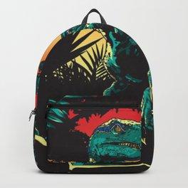 Dinosaur at night Backpack