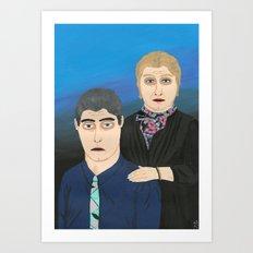 couple portrait Art Print