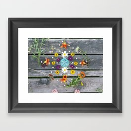 Dock Mandalla Framed Art Print