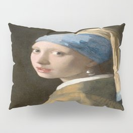 Girl with a Pearl Earring (1665), Old Masters Collection Pillow Sham