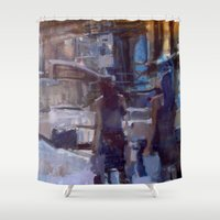 sisters Shower Curtains featuring sisters by lynn irena grayson
