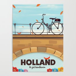 Holland Bicycle travel poster Poster