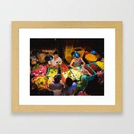 Mumbai Flower Market Framed Art Print