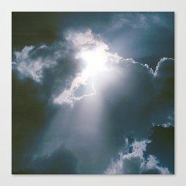 Sunburst of Light Parting the Clouds Canvas Print
