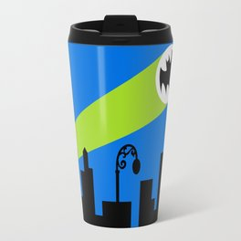 1966 Bat TV Show End Credits Art Travel Mug