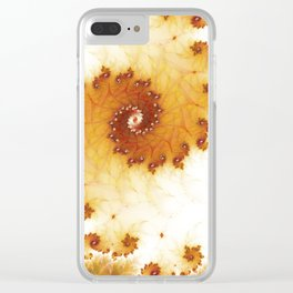 Autumnal spiral fractal Clear iPhone Case