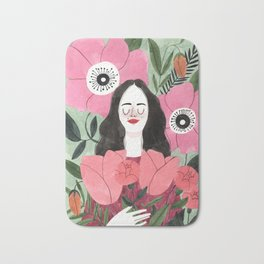Among Flowers Bath Mat