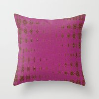 hot pink Throw Pillows featuring Hot Pink by Dorothy Pinder