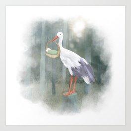 Stork Art Print