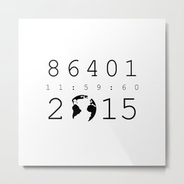 86401 Leap Second 2015 Metal Print