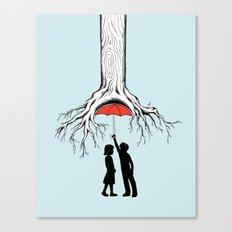 Raining Roots Canvas Print