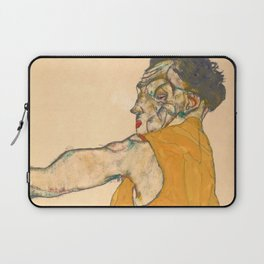 "Egon Schiele ""Self-Portrait in Yellow Vest"" Laptop Sleeve"