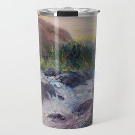 A Creek Between Mountains Travel Mug
