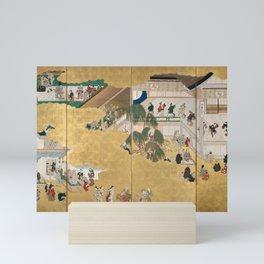 Hishikawa Moronobu - Scenes from the Nakamura Kabuki Theater (1690s) Mini Art Print