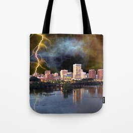 Stormy Richmond Skyline Tote Bag