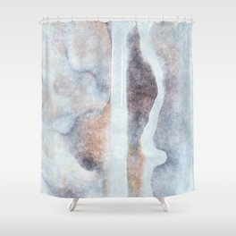 stained fantasy snowy highway Shower Curtain