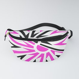 abstract geometric design with pink and black Fanny Pack