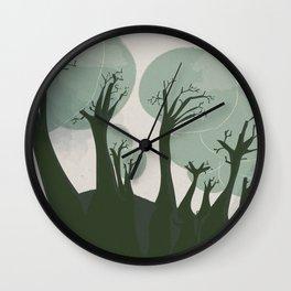 Trees 3 Wall Clock