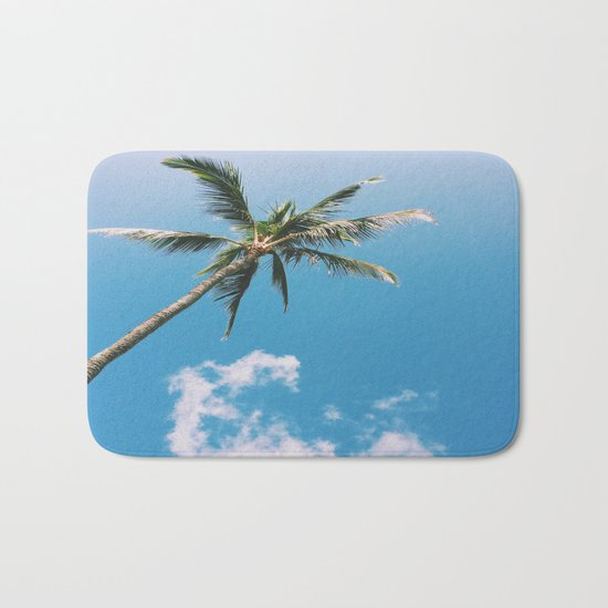 Clouds and Palms  Bath Mat