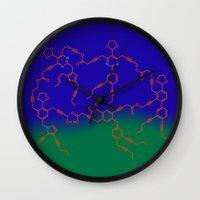"matisse Wall Clocks featuring ""The Dance"" after H. Matisse by Irina Chuckowree"