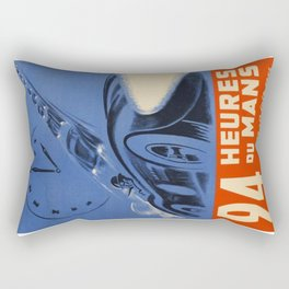 1954 Le Mans poster, Race poster, car poster, Rectangular Pillow