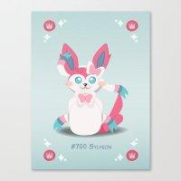 sylveon Canvas Prints featuring Evolution Bobbles - Sylveon by creativeesc